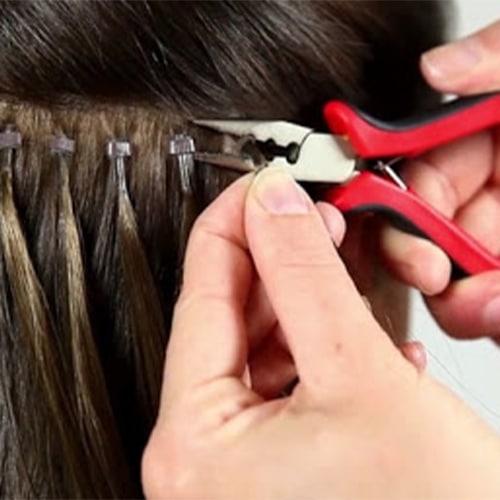 اکستنشن مو به روش  اتصال حرارتی