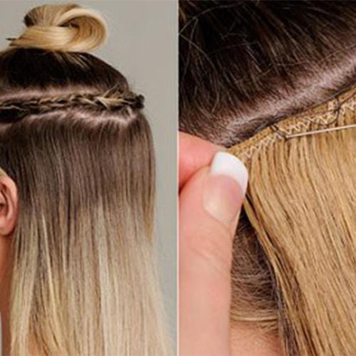 اکستنشن مو به روش  دوخت مو